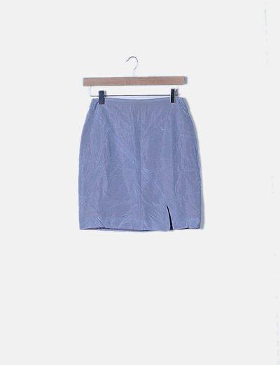 Falda gris brillo detalle abertura