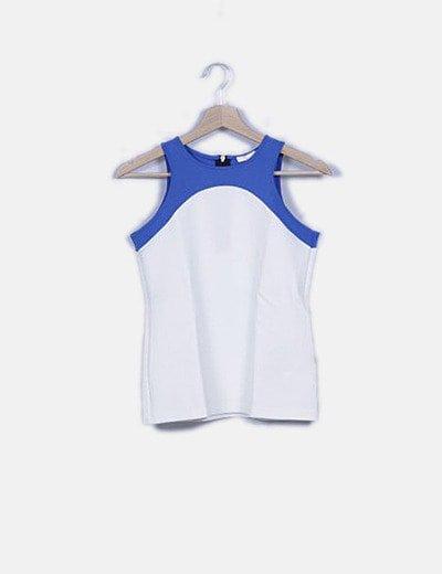Blusa neopreno bicolor