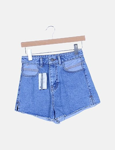 Short denim tiro alto