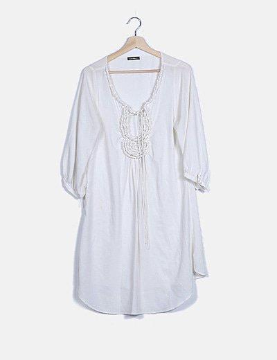 Vestido fluido blanco