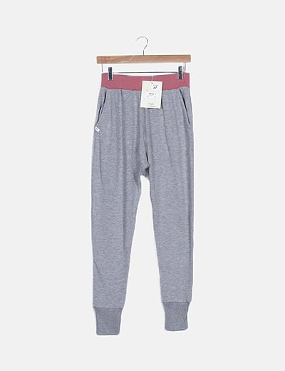 Jogger tricot gris