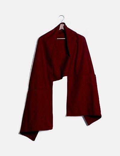 Capa de paño roja con bolsillos