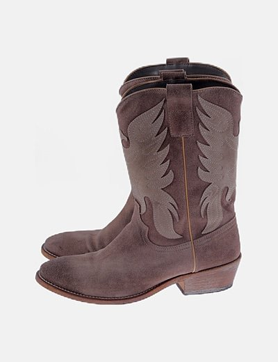 Botines cowgirl ante camel