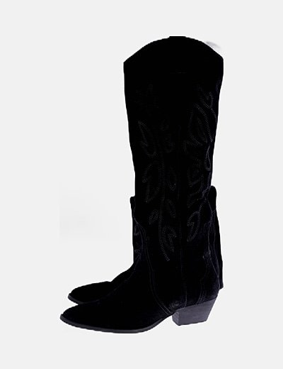 Botas altas cowboy ante negro