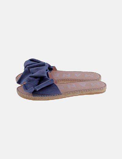 Sandalias lazo ante azul