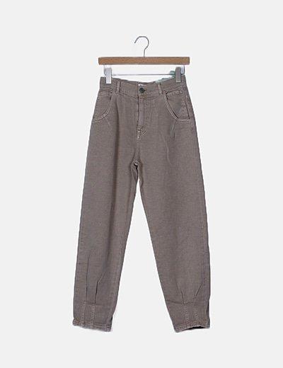 Jeans denim barrel beige