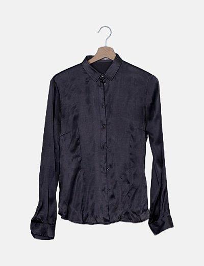 Camisa satén gris