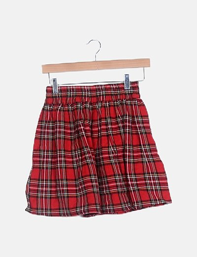 Mini falda cuadros tartán