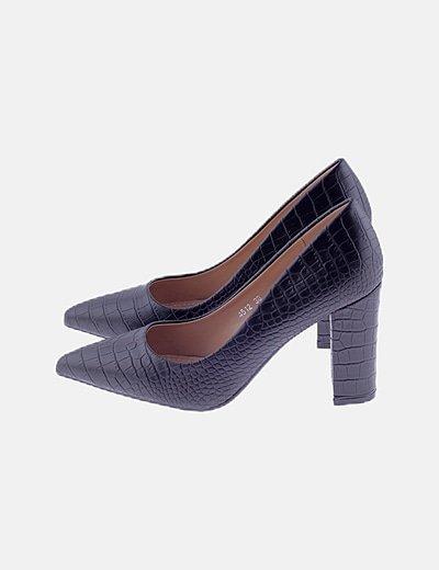 Zapatos negros texturizados