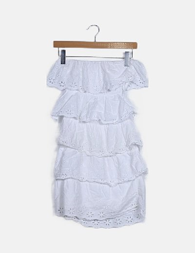 Mini vestido gipur palabra de honor
