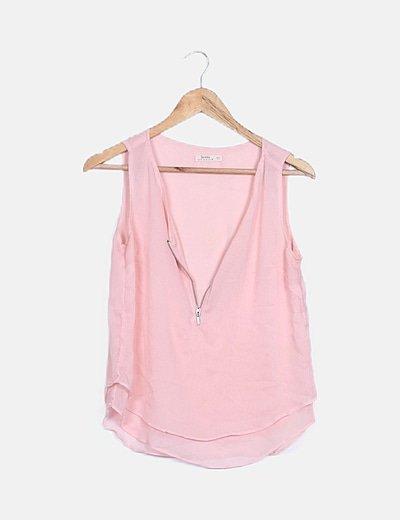 Blusa gasa rosa