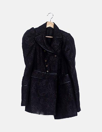 Abrigo negro combinado