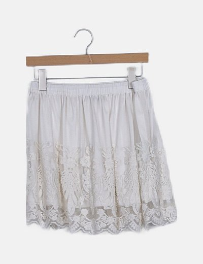 Mini falda cruda combinada