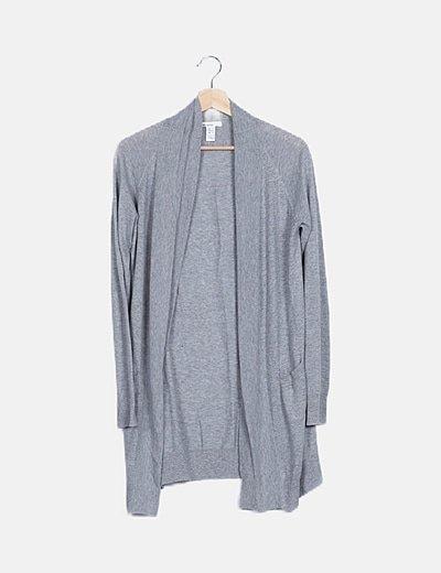 Cárdigan tricot gris