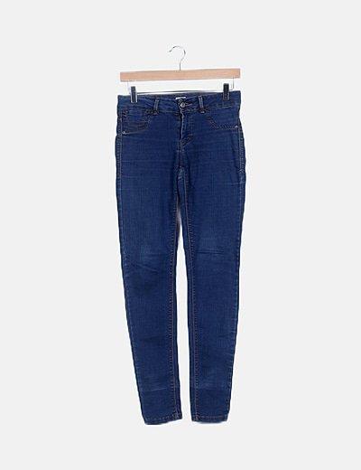 Jeans denim pitillo