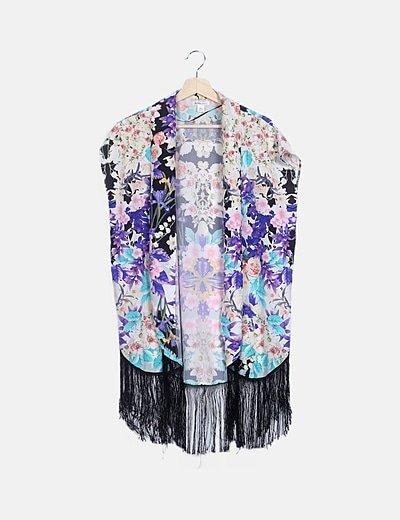 Kimono print floral multicolor