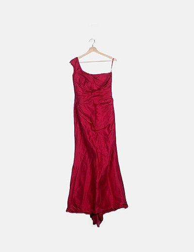 Vestido maxi rosa de fiesta