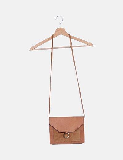 Bolso mini marrón combinado