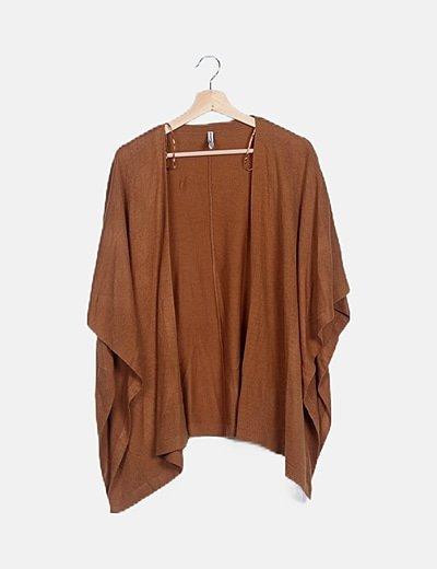 Cárdigan tricot camel