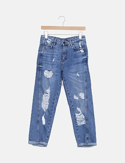 Jeans denim boyfriend ripped