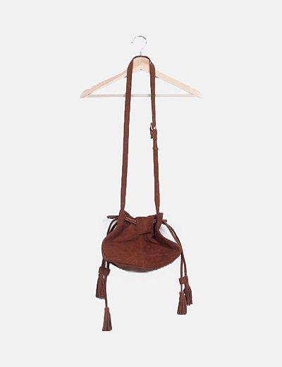 Bolso saco ante marrón