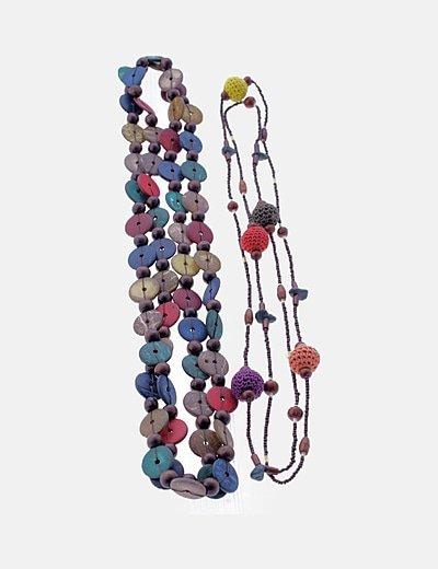 Pack collares multicolor combinados