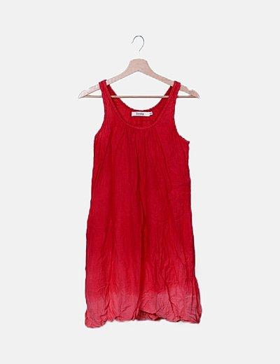 Vestido rojo degradado