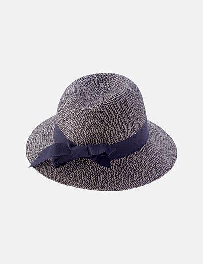 Sombrero jaspeado bicolor lazo
