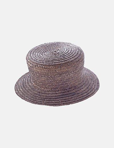 Sombrero rafia dorado