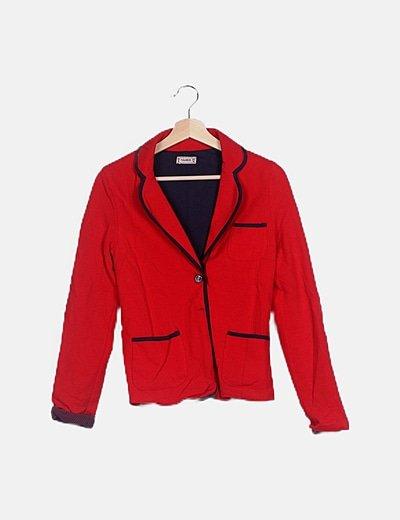 Blazer texturizada roja