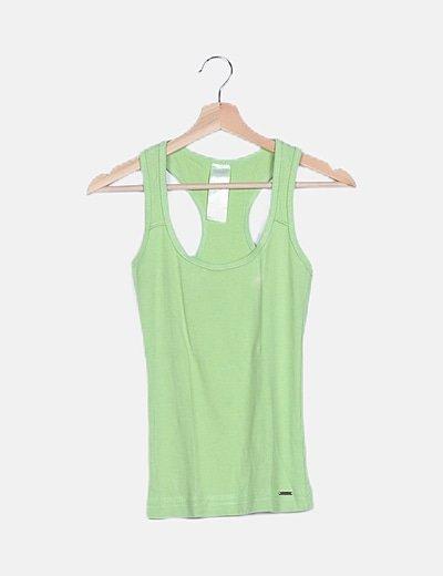 Camiseta tirantes verde