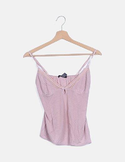Camiseta tirantes rosa