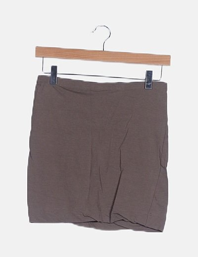 Falda tubo taupe