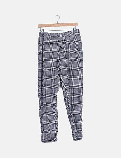 Pantalón gris cuadro galés