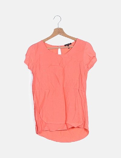 Blusa coral strass