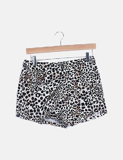 Falda pantalón animal print