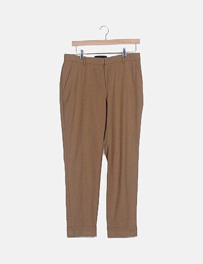 Pantalón de traje camel