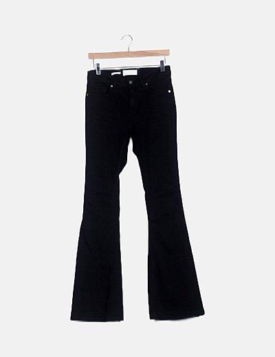 Jeans denim negro campana