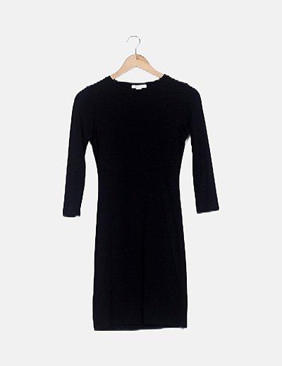 Vestido negro espalda calada