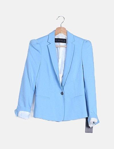 Blazer entallada azul