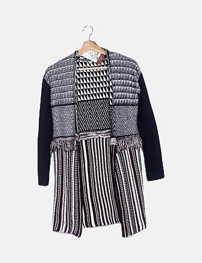 Cárdigan lana étnico
