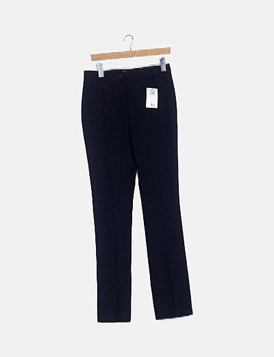 Pantalón pinza azul merino