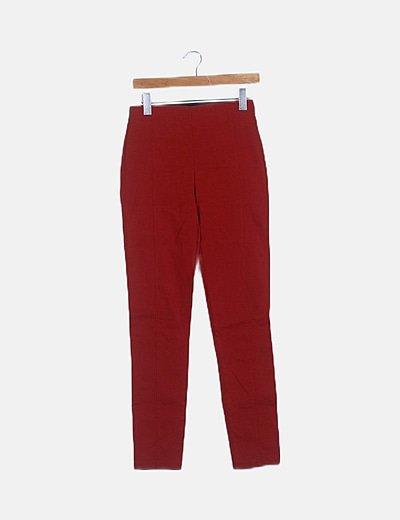 Pantalón estructurado rojo con elástico