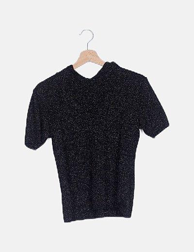 Suéter tricot negro glitter