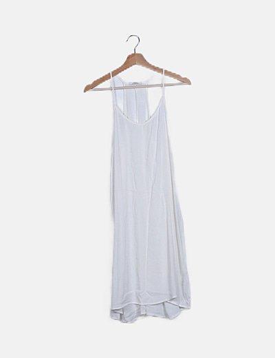 Blusa oversize blanca tail hem