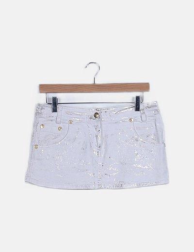 Mini falda blanca glitter