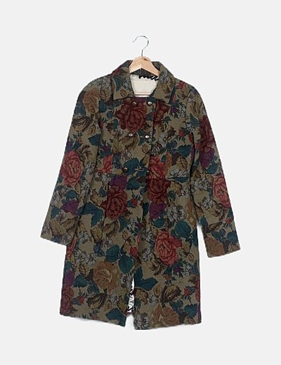 Abrigo tweed bordado