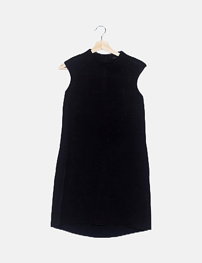 Vestido negro efecto neopreno