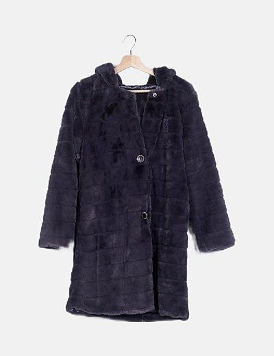 Abrigo largo gris soft hand