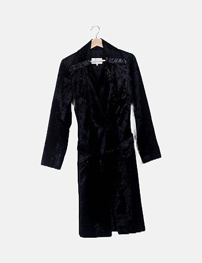 Abrigo largo negro soft hand